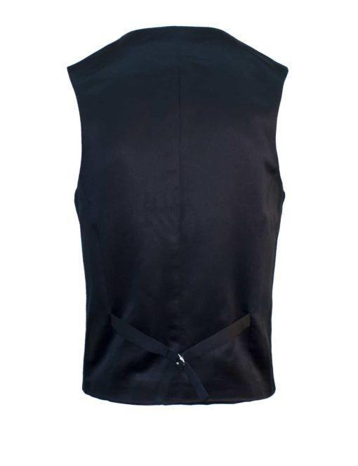 Tailored Fit Black Twill Single Breasted Vest V1V2.2