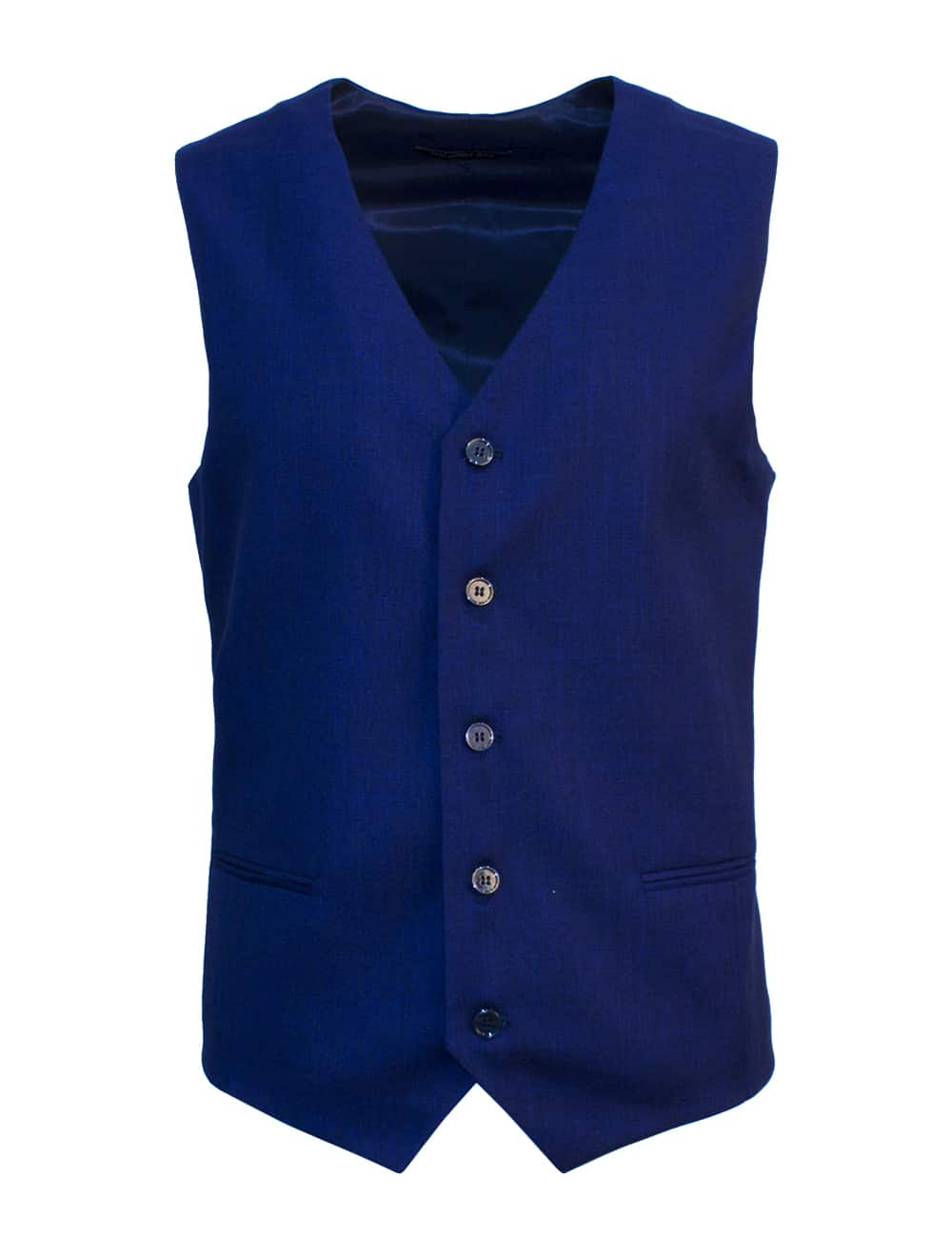 Tailored Fit Dark Blue Single Breasted Vest V1V3.2