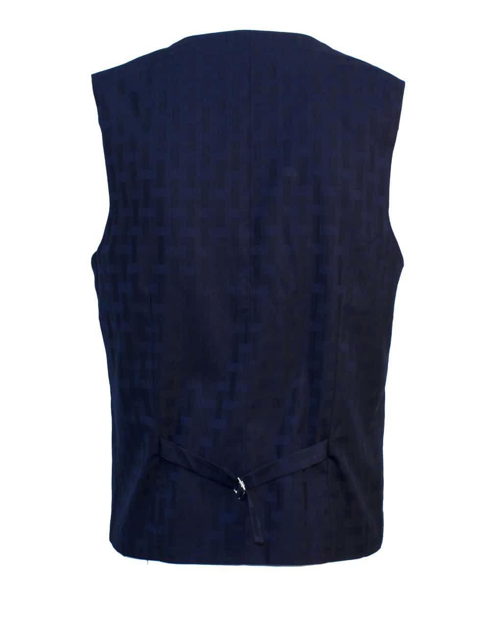 Tailored Fit Black Checks Double Breasted Vest V2V2.2