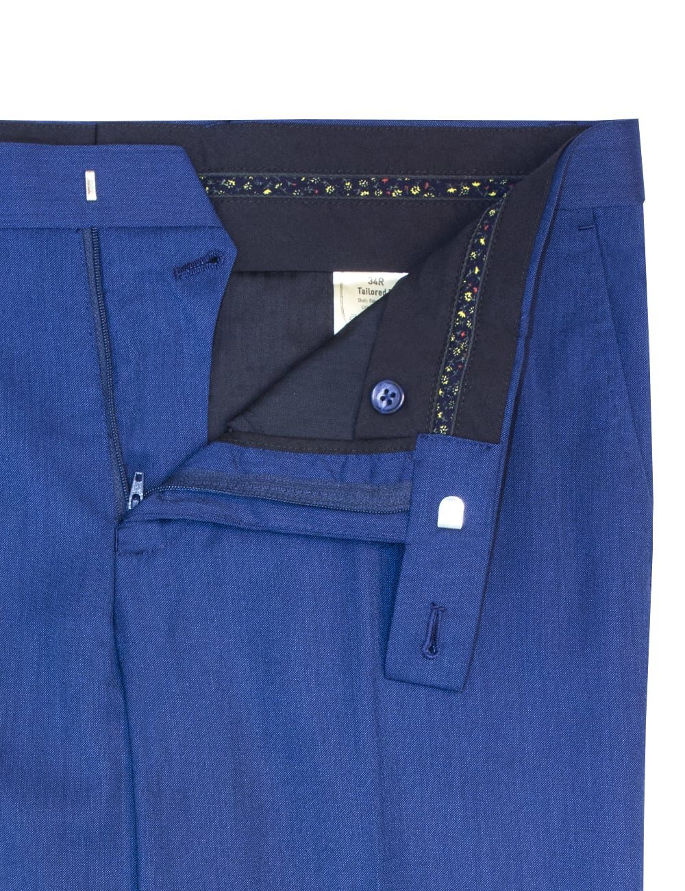 Tailored Fit Estate Blue Smart Pocket Flat Front Dress Pants DP1A4.3