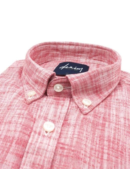 RF Red Button Down Denim Collection 100% Cotton Long Sleeve Single Cuff Shirt RF5B9.9