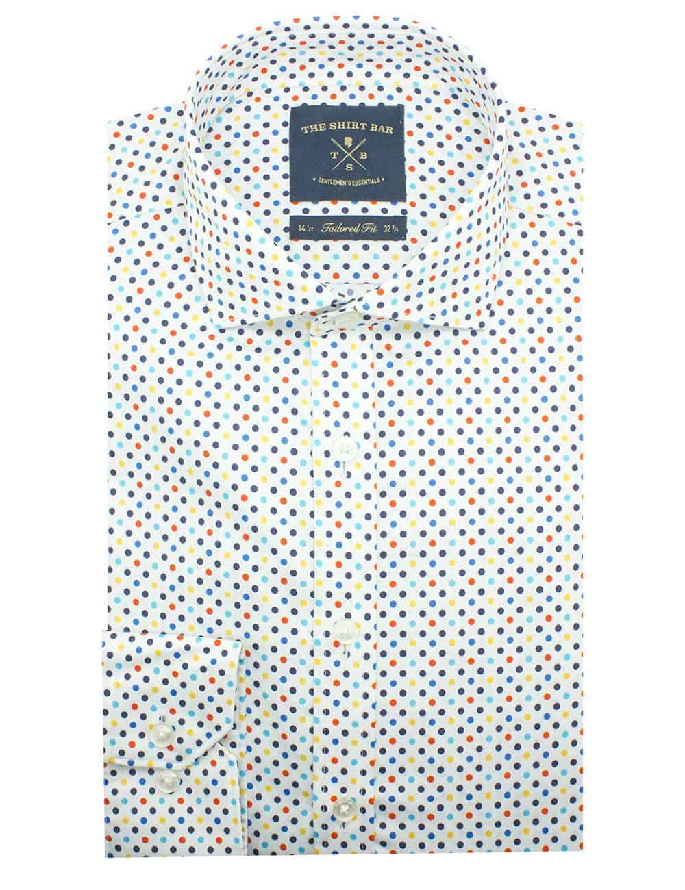 Tailored Fit 100% Premium Cotton Sateen Long Sleeve Single Cuff Men's Shirt (Digitally Printed)