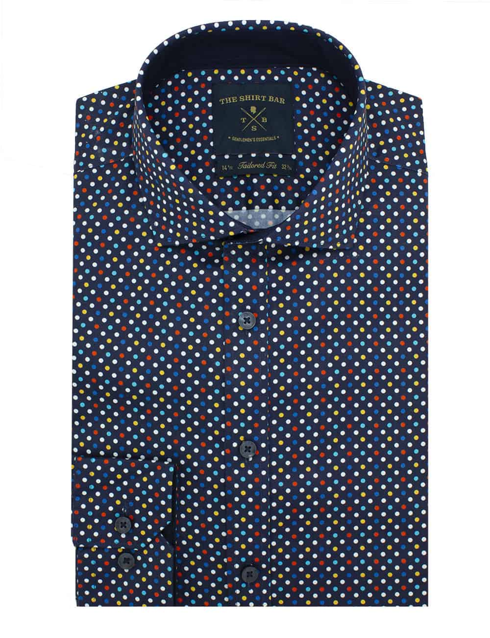 Tailored Fit 100% Premium Cotton Sateen Long Sleeve Single Cuff Men's Shirt (Digitally Printed)