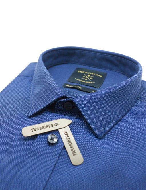 RF Blue Pattern Easy Iron 100% Premium Cotton Short Sleeve RF9SNB4.15