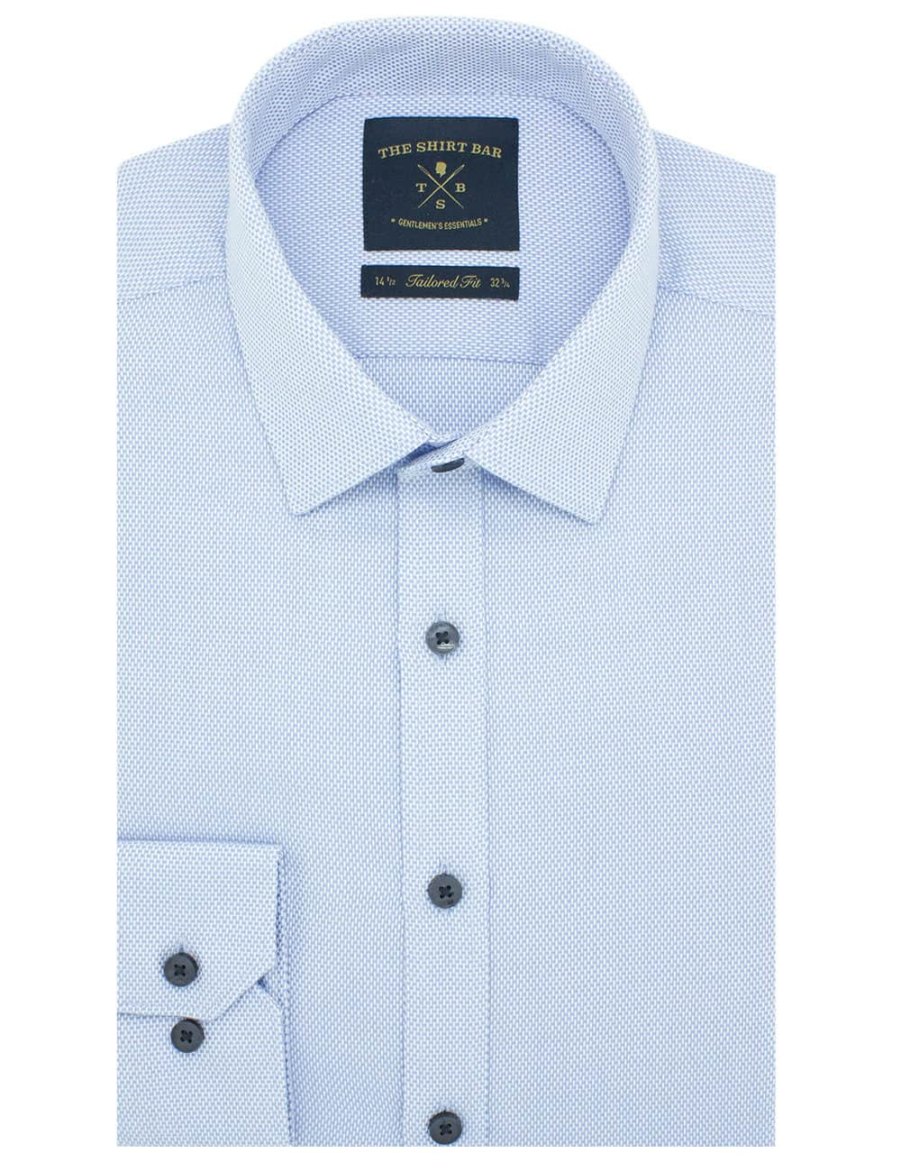 Tailored Fit Cotton Blend Wrinkle-Resistant Long Sleeve Single Cuff Men's Shirt