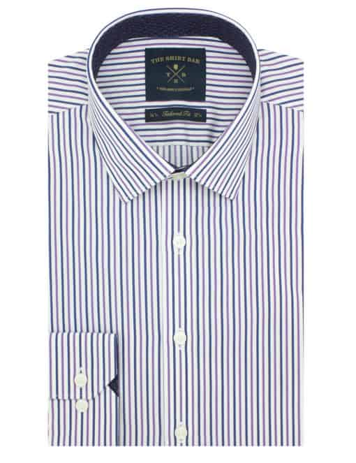 Tailored Fit 100% Cotton Wrinkle Free Long Sleeve Single Cuff Men's Shirt