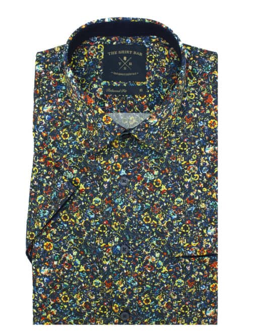 Relaxed Fit 100% Premium Cotton Sateen Digitally Printed Short Sleeve Men's Shirt