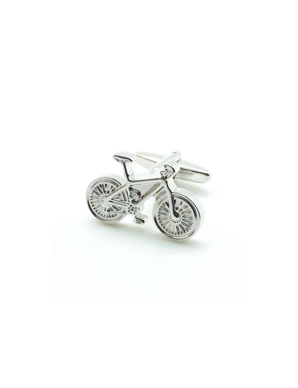 Silver Racing Bicycle Cufflink 0107-004