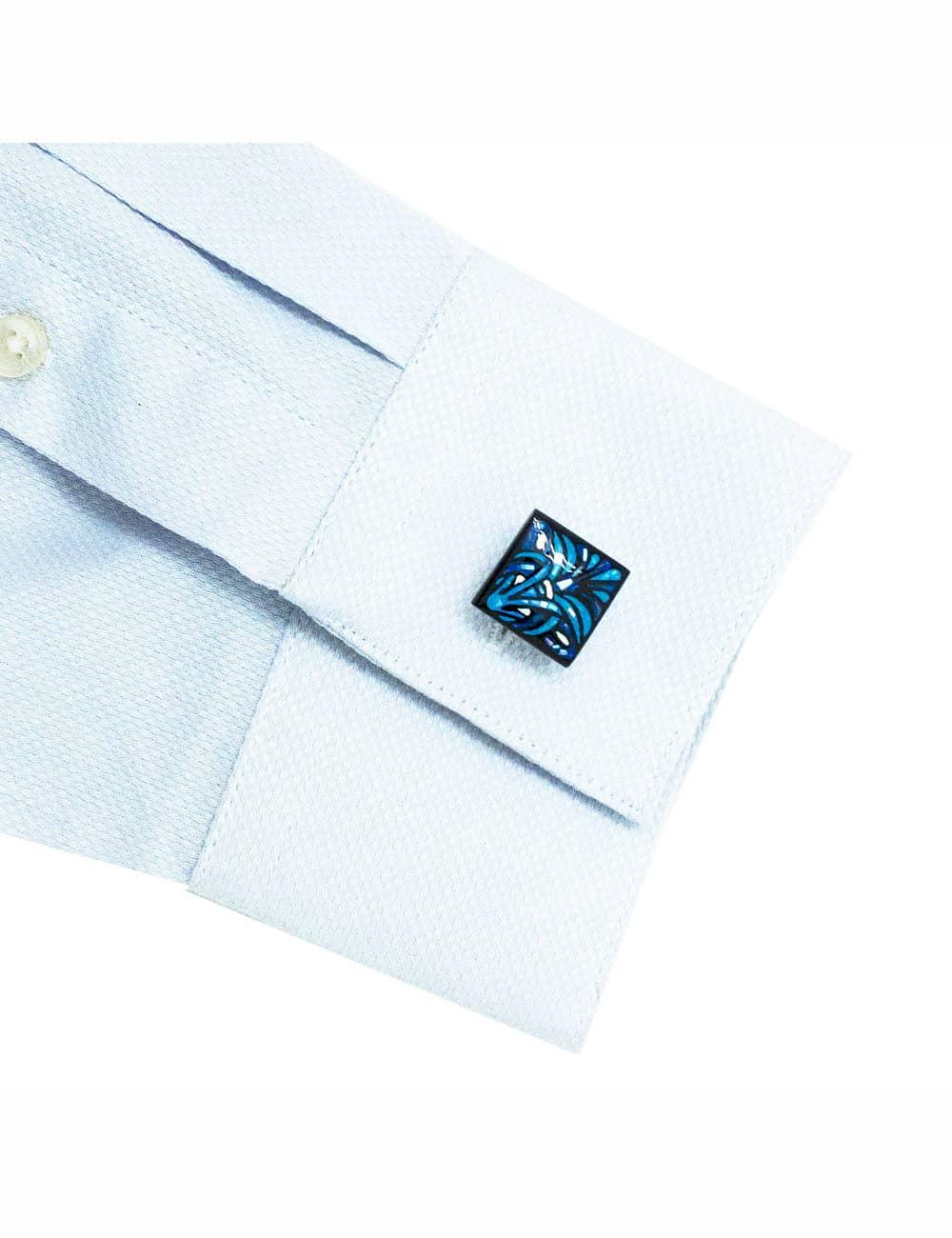 CF Grey Dobby Wingtip Collar 100% Premium Cotton Spill Resistant Long Sleeve Single Cuff Shirt CF14G6.5
