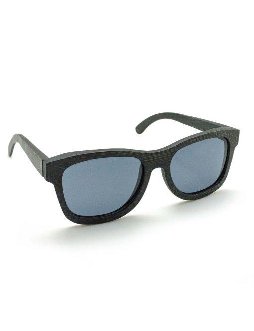 'Leon' Black with Black Lens Bamboo Sunglasses – EW7.NOB1
