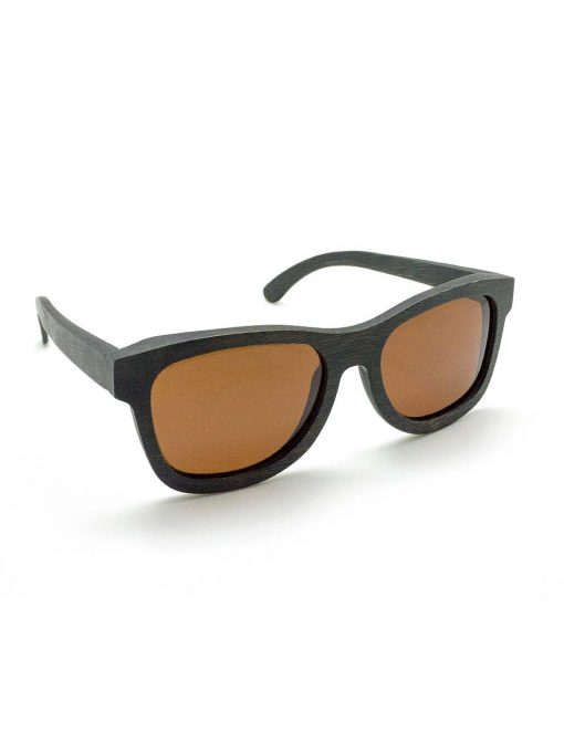 'Raoul' Black with Brown Lens Bamboo Sunglasses – EW4.NOB1
