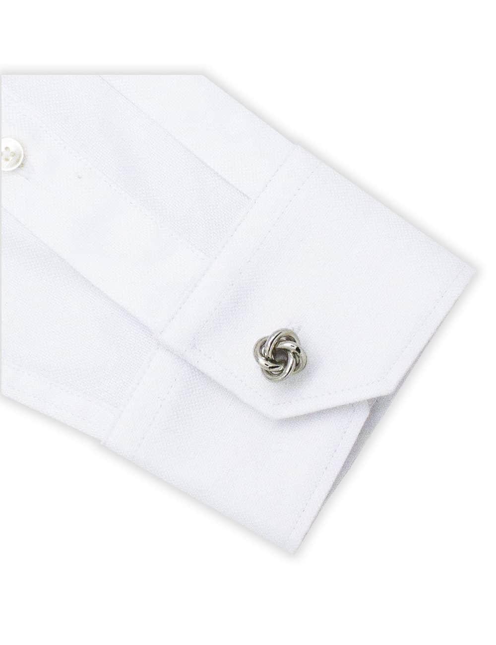 Classic Silver Loose Knot Cufflink C101FC-078