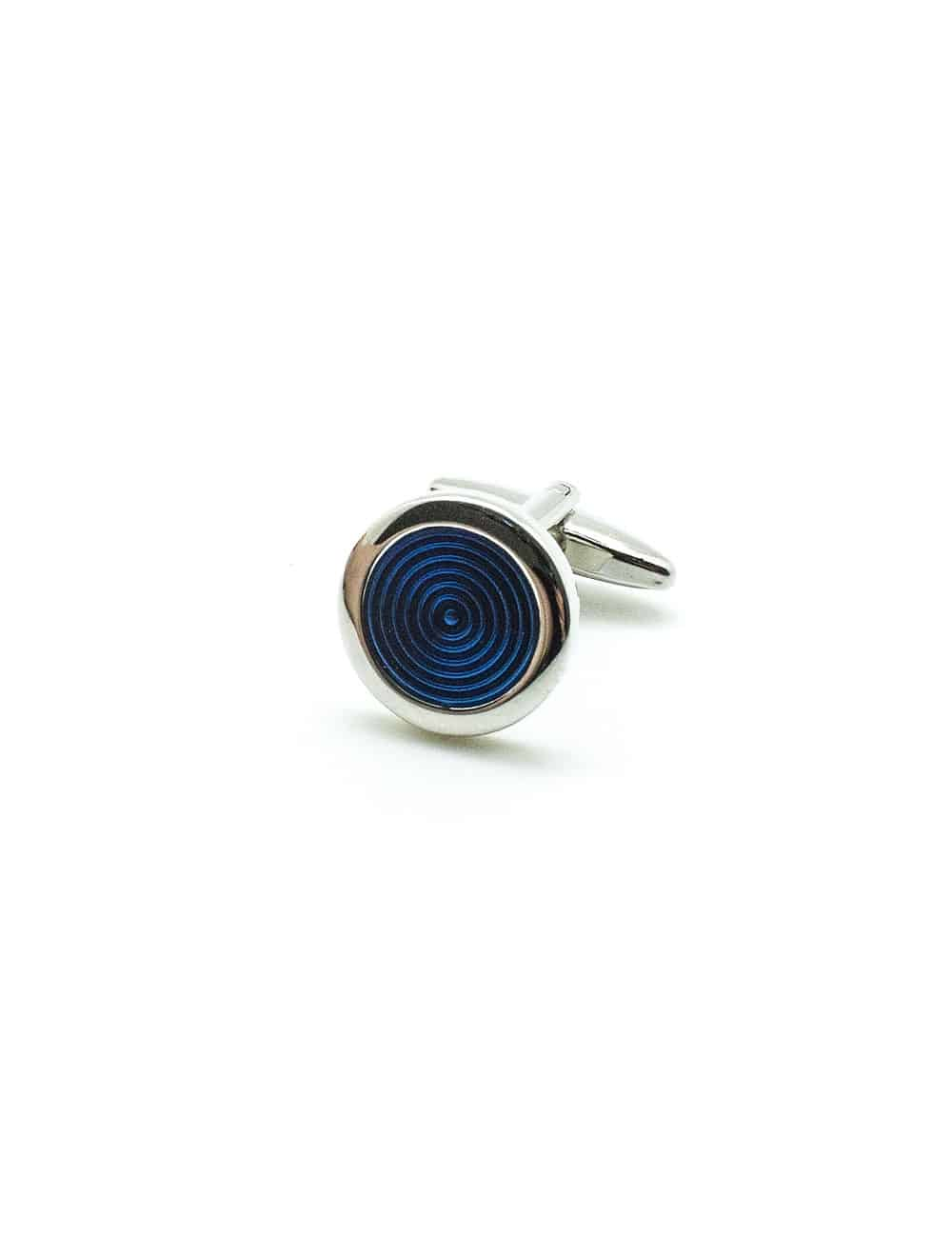 Blue Circle Enamel Cufflink C111FE-120B