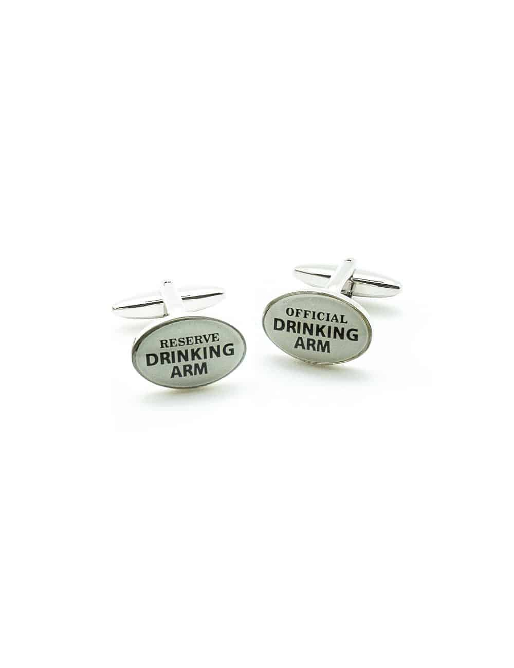 White Official -Reserve Drinking Arm Cufflink C221NL-008B