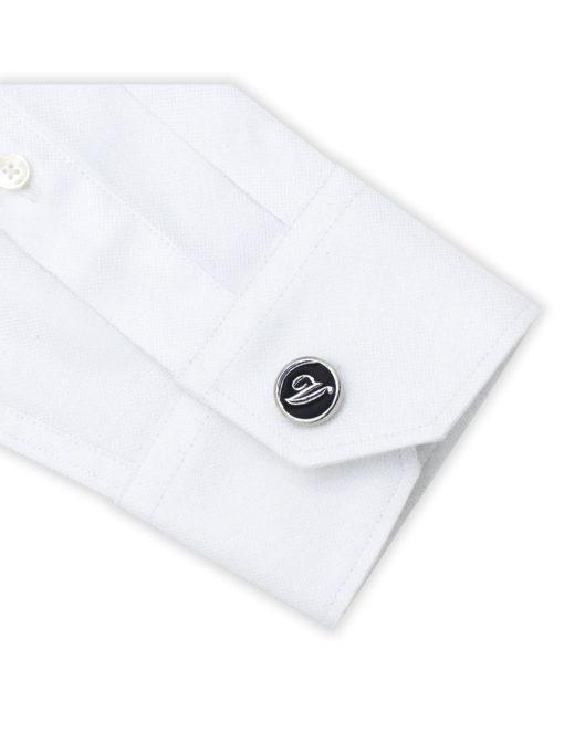 Black Enamel Letter V Cufflink C221NL-020V
