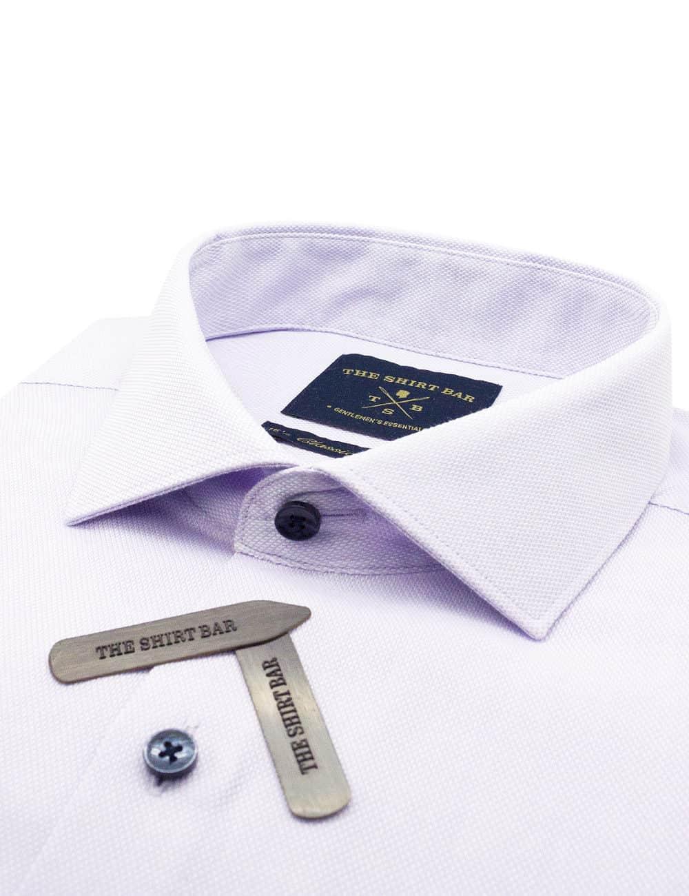 CF Solid Purple Dobby Cotton Blend Spill Resist Long Sleeve Double Cuff Shirt CF3D6.16
