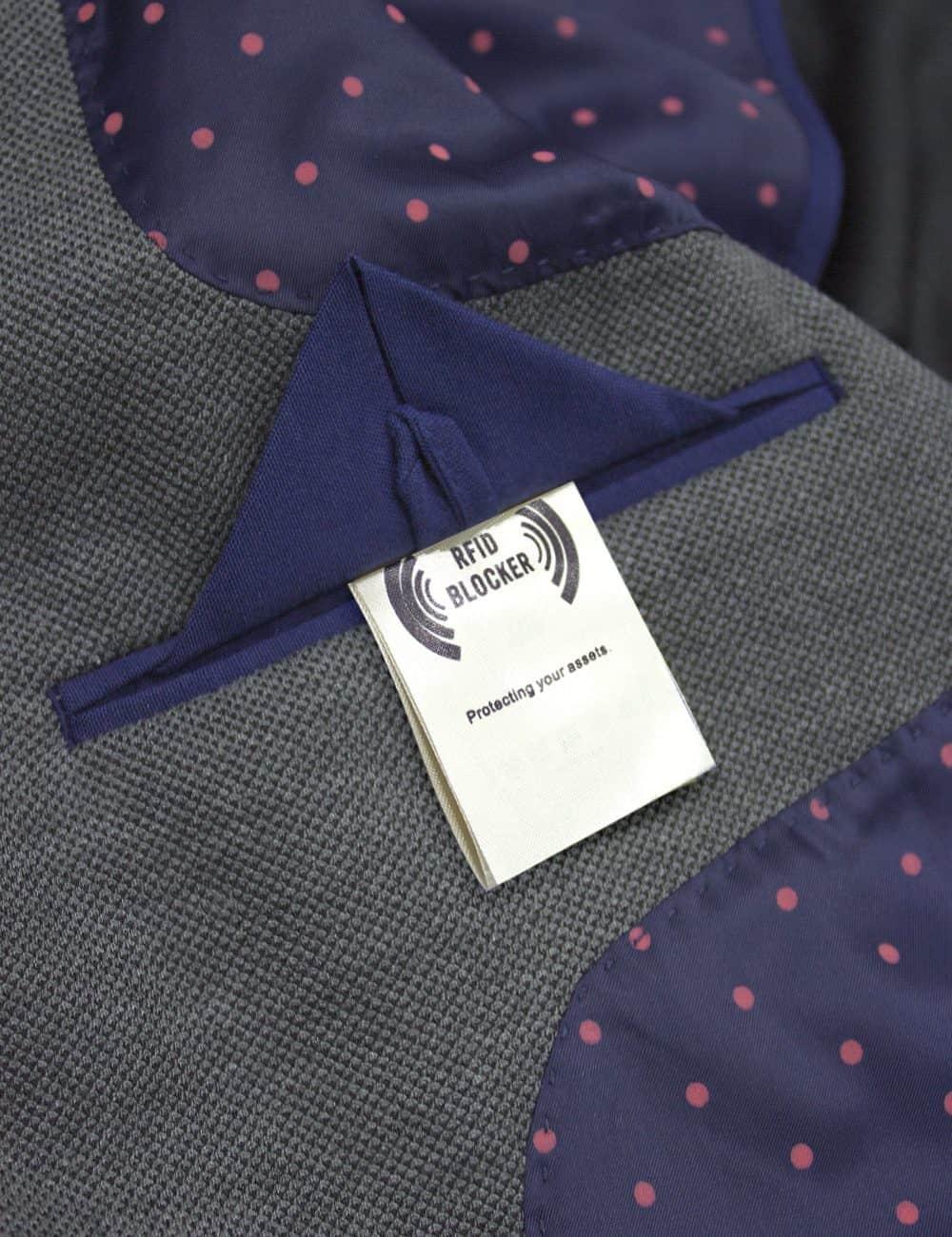 Slim Fit Charcoal Grey Knitted Blazer - B1B1.1