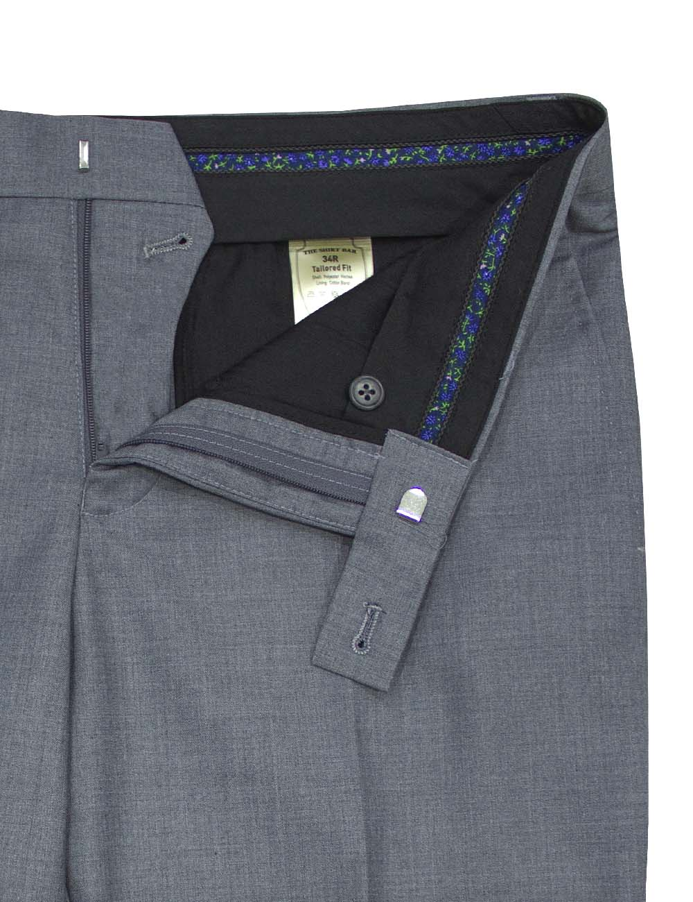 Slim / Tailored Fit Grey Twill Suit Set – SS3.3