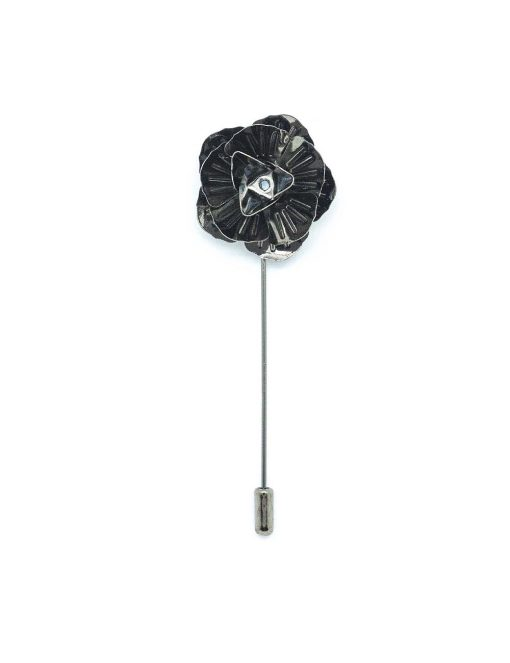 Gunmetal Floral Lapel Pin LP44.7