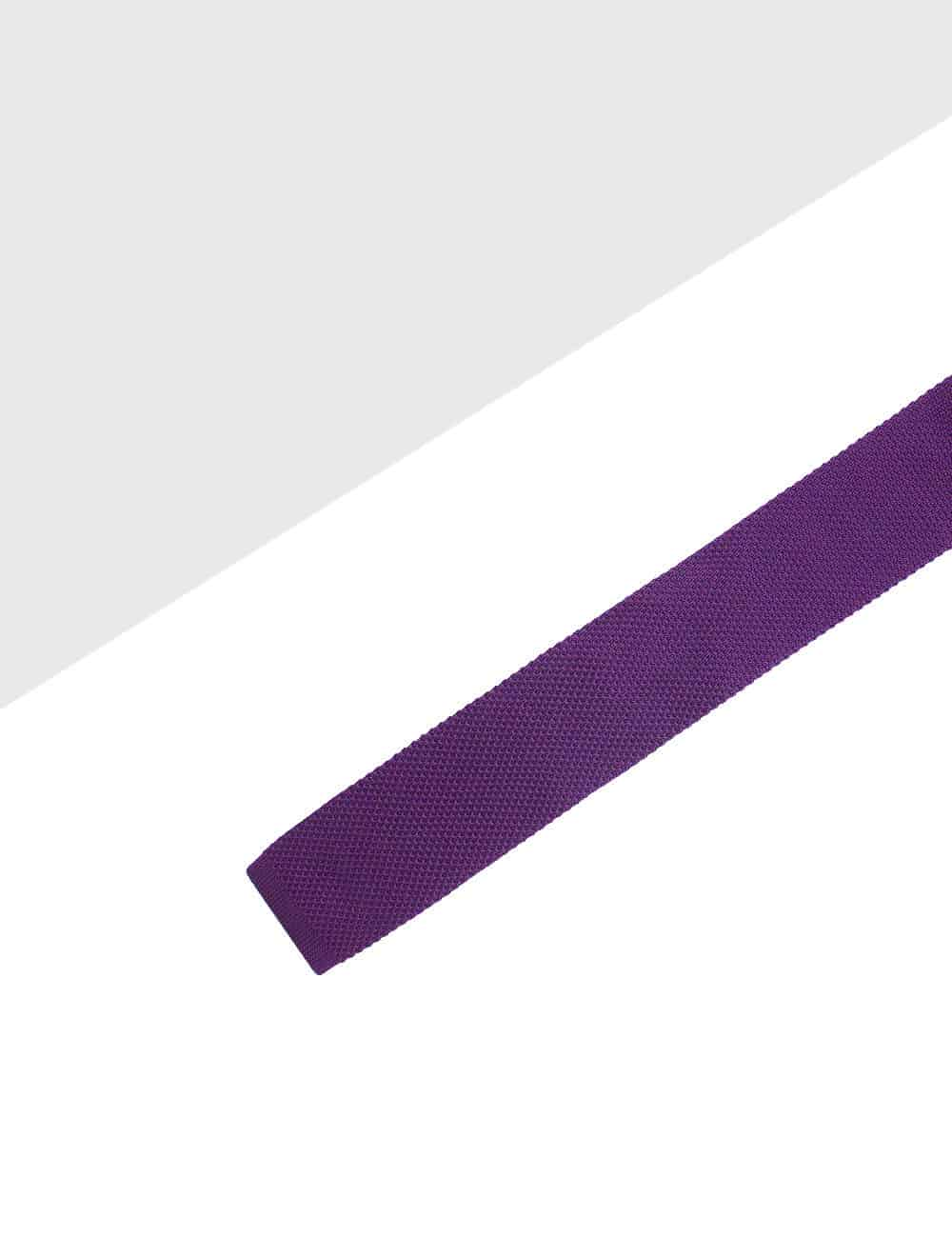 Solid Bright Purple Knitted Necktie KNT71.8