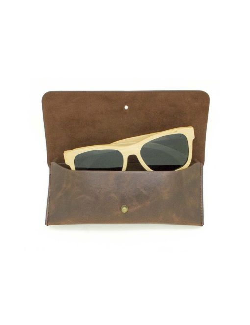 'Tyler' Khaki with Black Lens Bamboo Sunglasses – EW5.NOB1