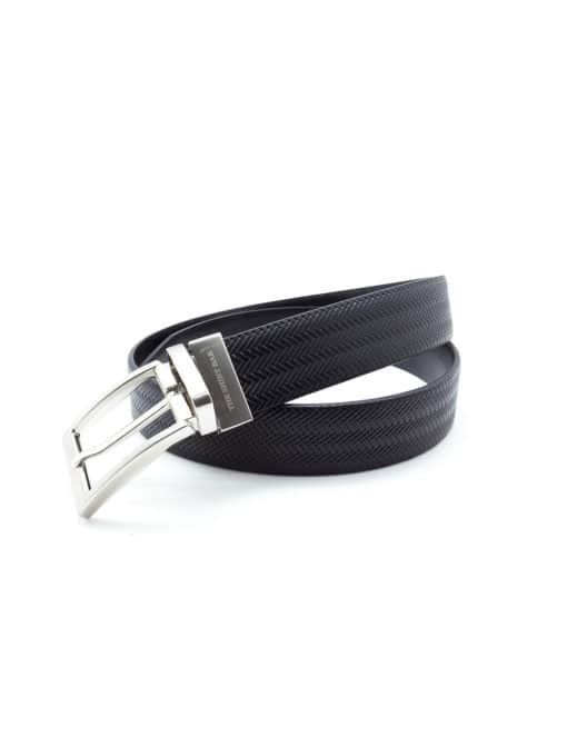 Black Reversible Leather Belt LBR1.8