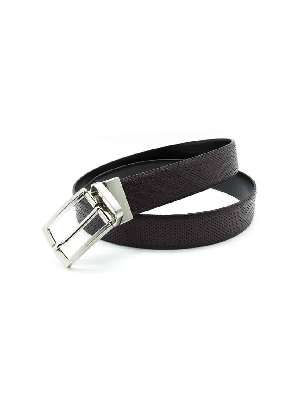 Dark Brown / Black Reversible Leather Belt LBR11.8