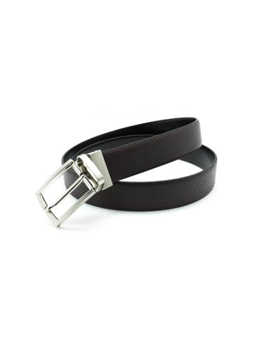 Dark Brown / Black Reversible Leather Belt LBR11.8