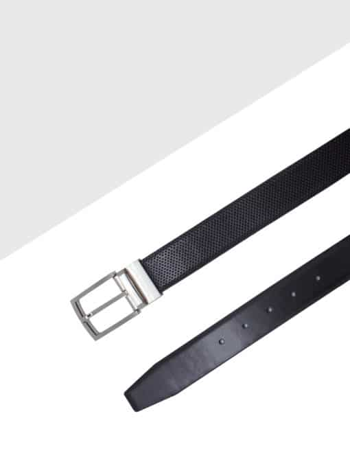 Black Reversible Leather Belt LBR13.8