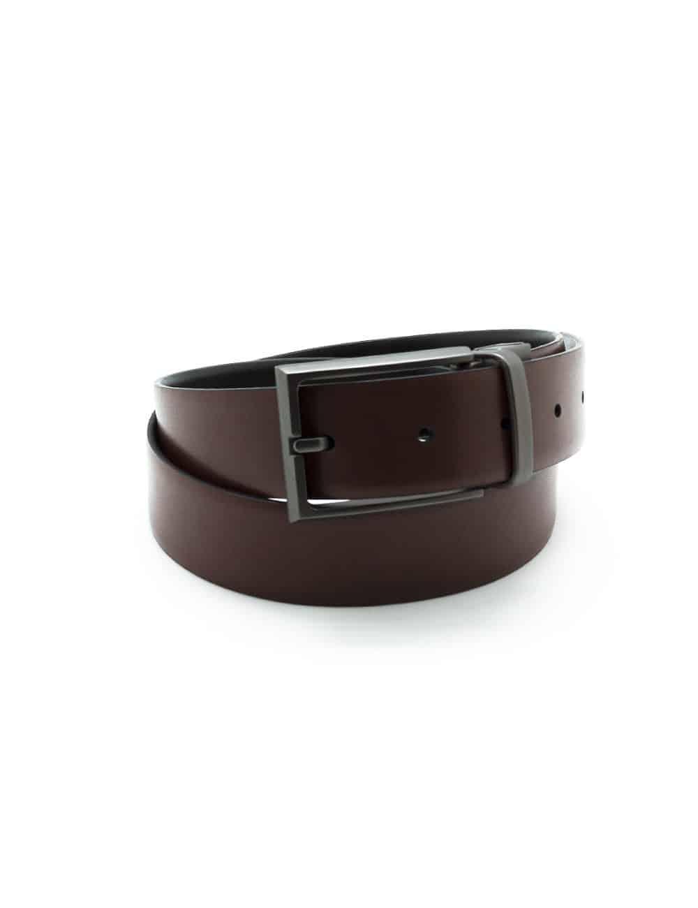 Black / Brown Reversible Leather Belt LBR14.8