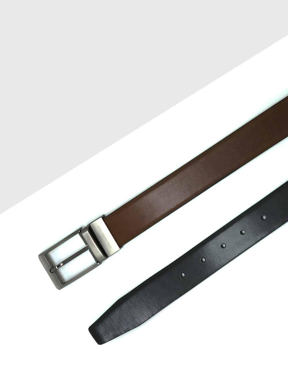 Brown / Black Reversible Leather Belt LBR16.8