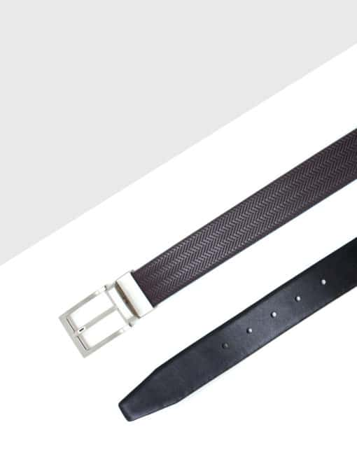 Dark Brown / Black Reversible Leather Belt LBR2.8