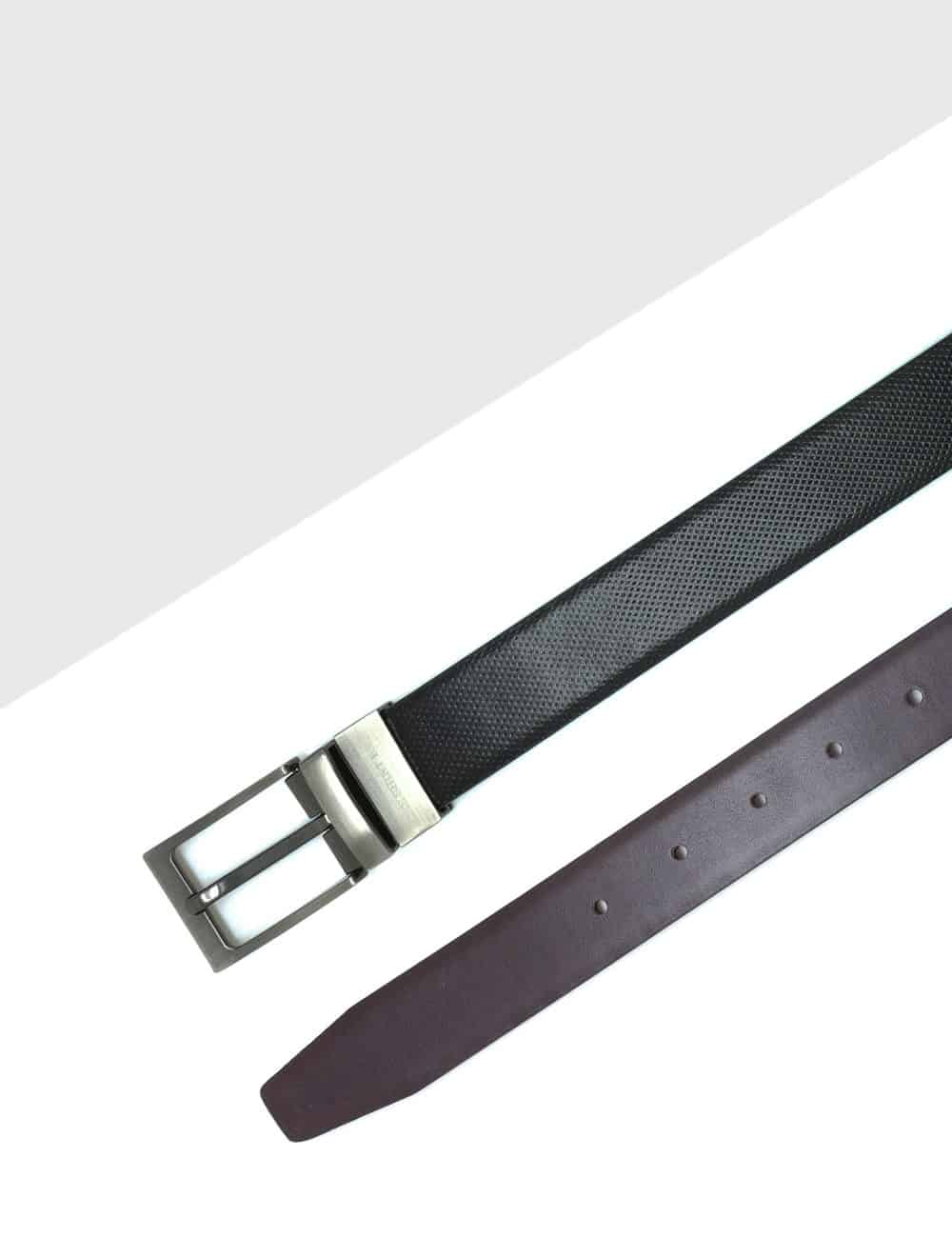 Black / Dark Brown Reversible Leather Belt LBR5.8