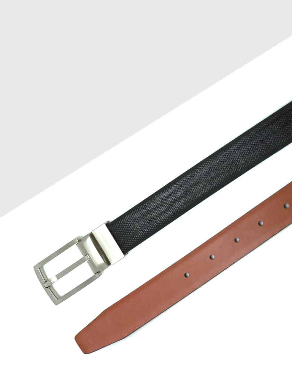 Black / Brown Reversible Leather Belt LBR7.8