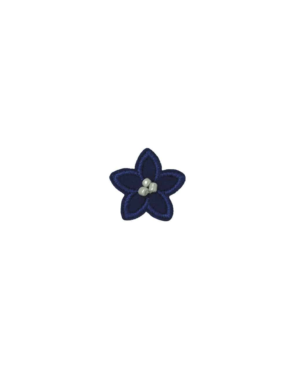Navy with White Floral Lapel Pin LP10.10