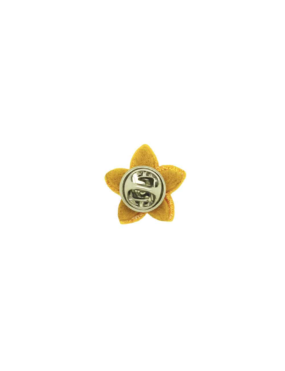 Yellow with White Floral Lapel Pin LP11.10