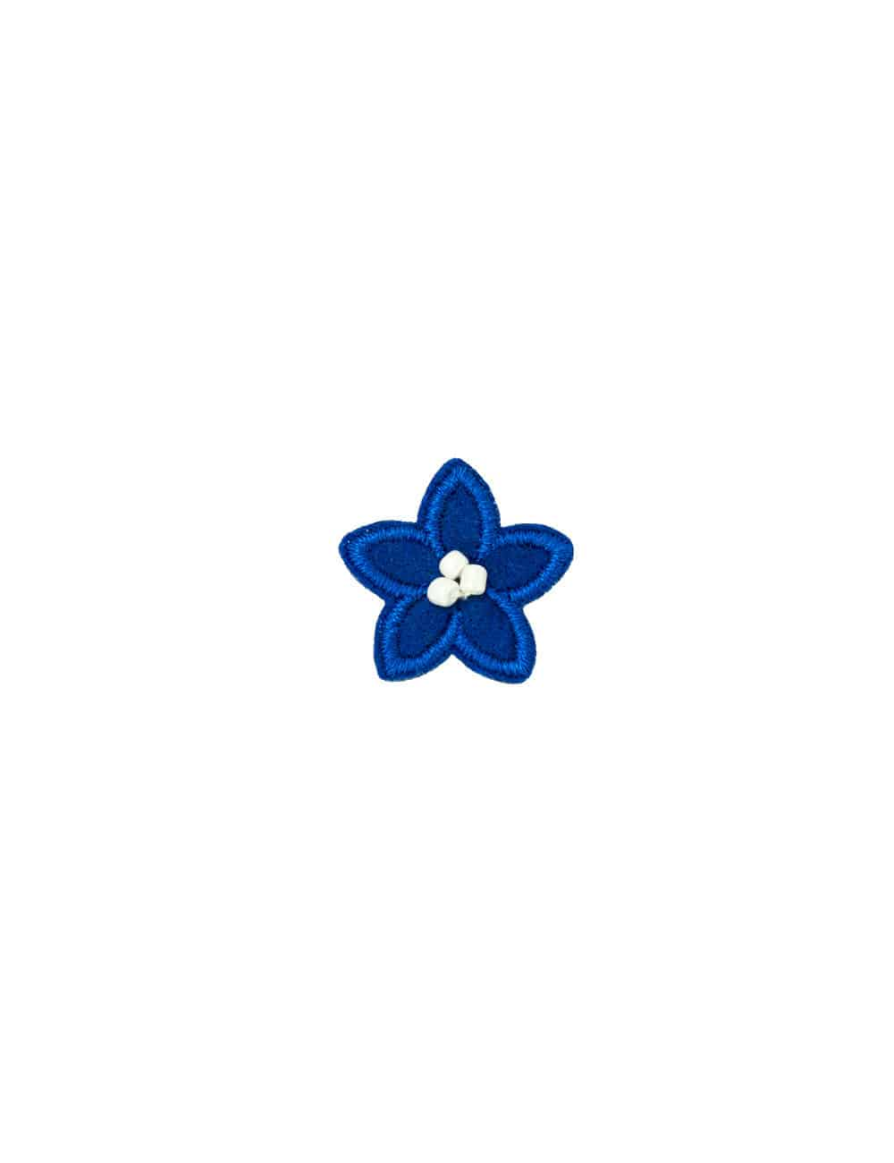 Blue with White Floral Lapel Pin LP12.10