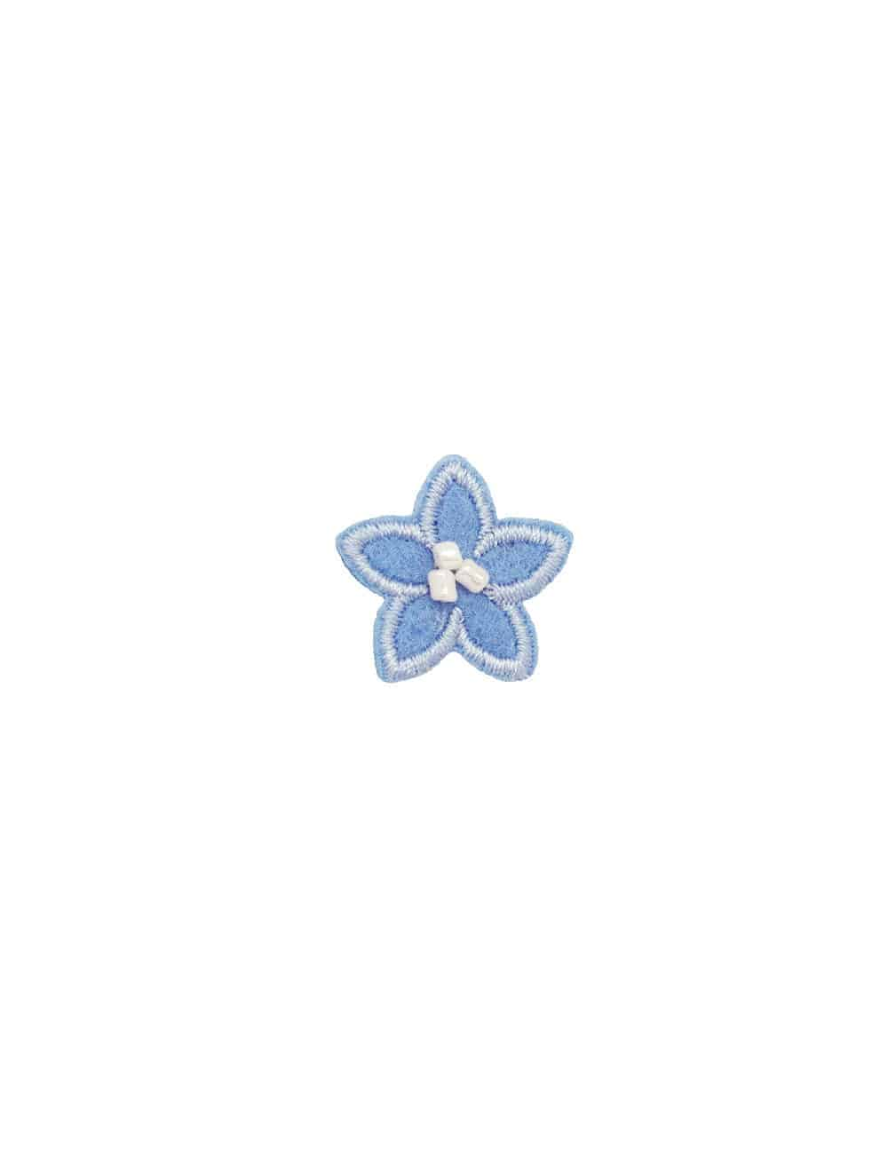 Light Blue with White Floral Lapel Pin LP13.10