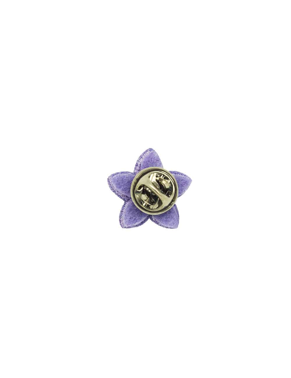 Lilac with White Floral Lapel Pin LP14.10