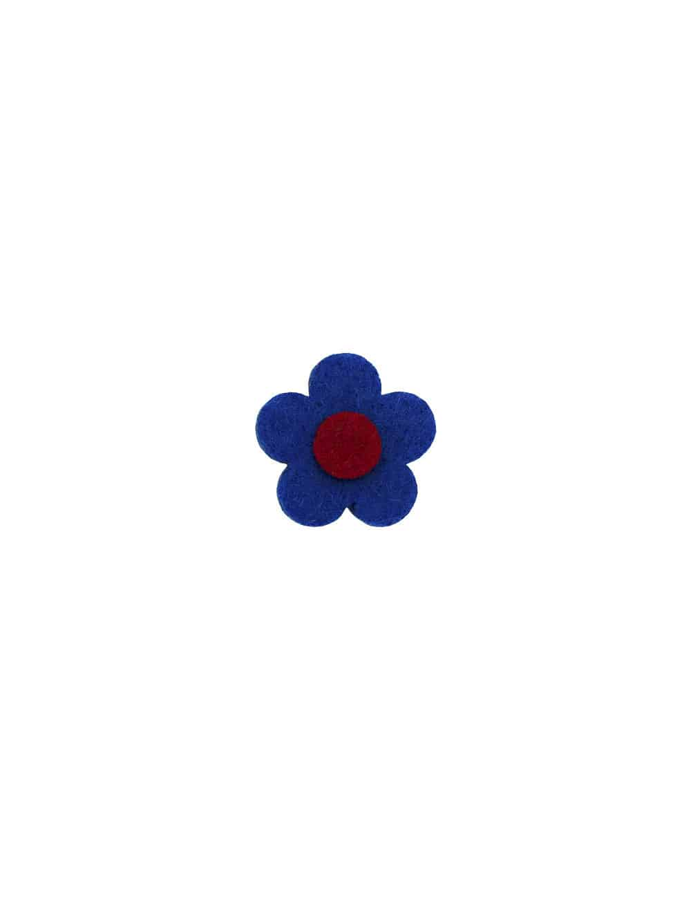 Blue 3 Tier Floral Lapel Pin LP19.10