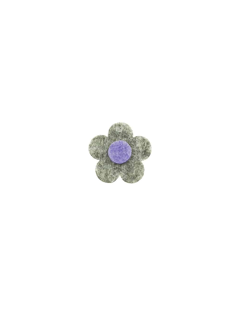 Light Grey 3 Tier Floral Lapel Pin LP22.10