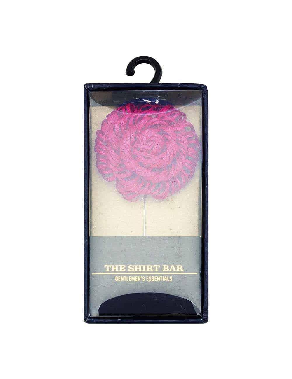 Dark Pink Twirl Floral Lapel Pin LP45.10
