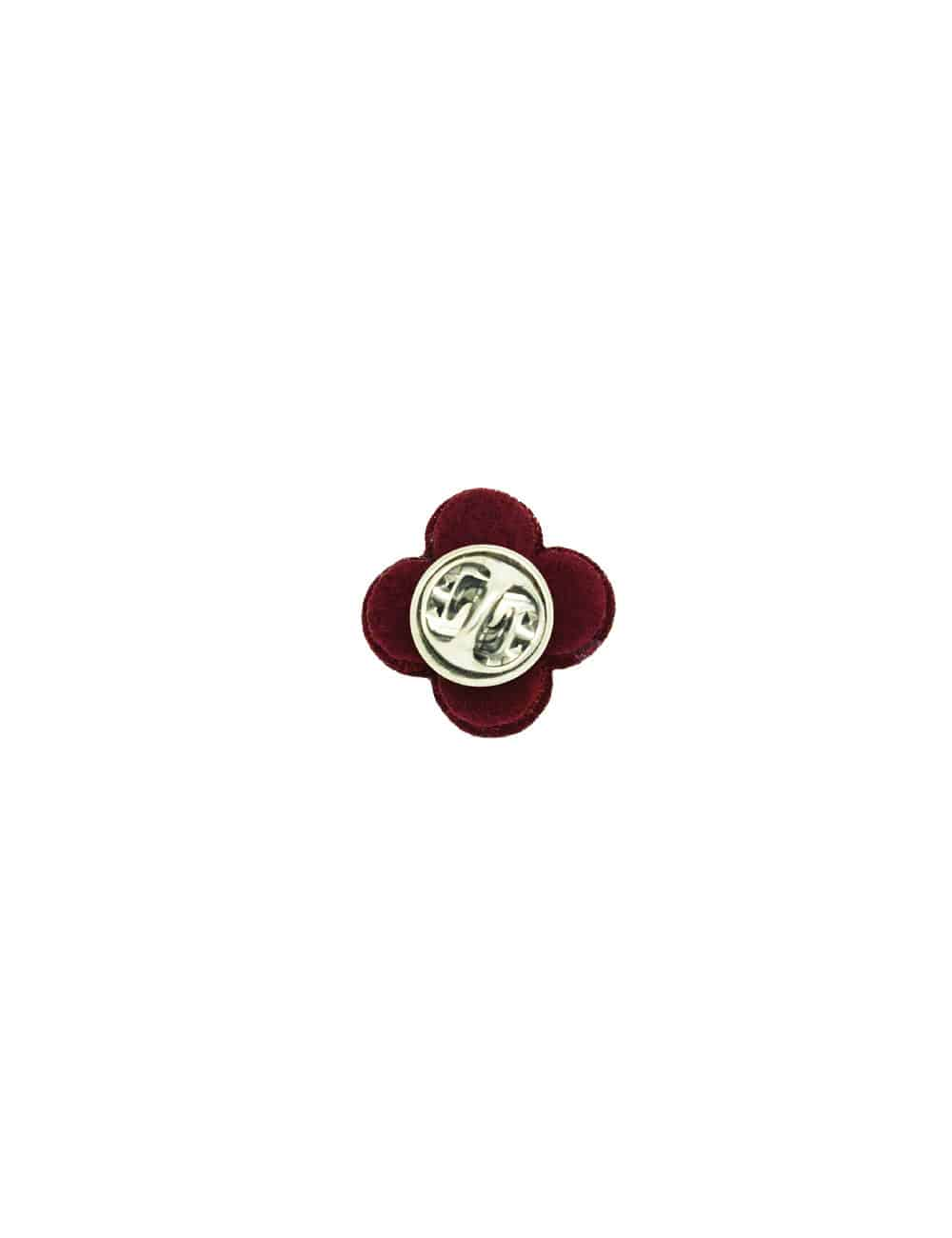 Red with White Floral Lapel Pin LP6.10