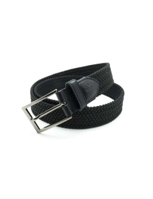 Jet Black Webbing Belt NLB17.8