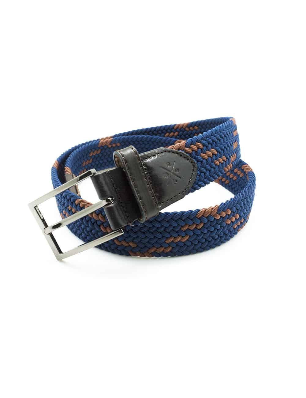 Navy / Brown Webbing Belt NLB22.8