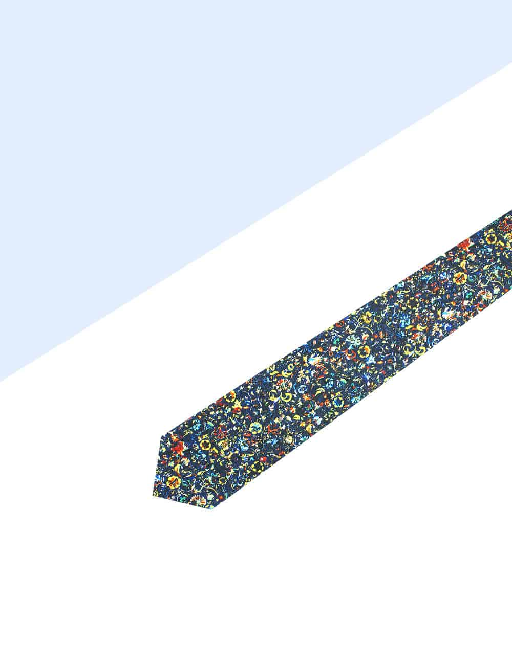 Multi Coloured Floral Print Necktie NT1.10