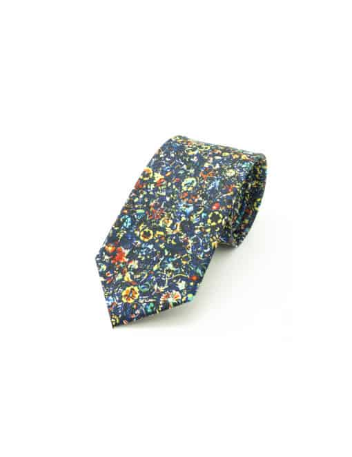 Multi Coloured Floral Print Necktie NT1.10