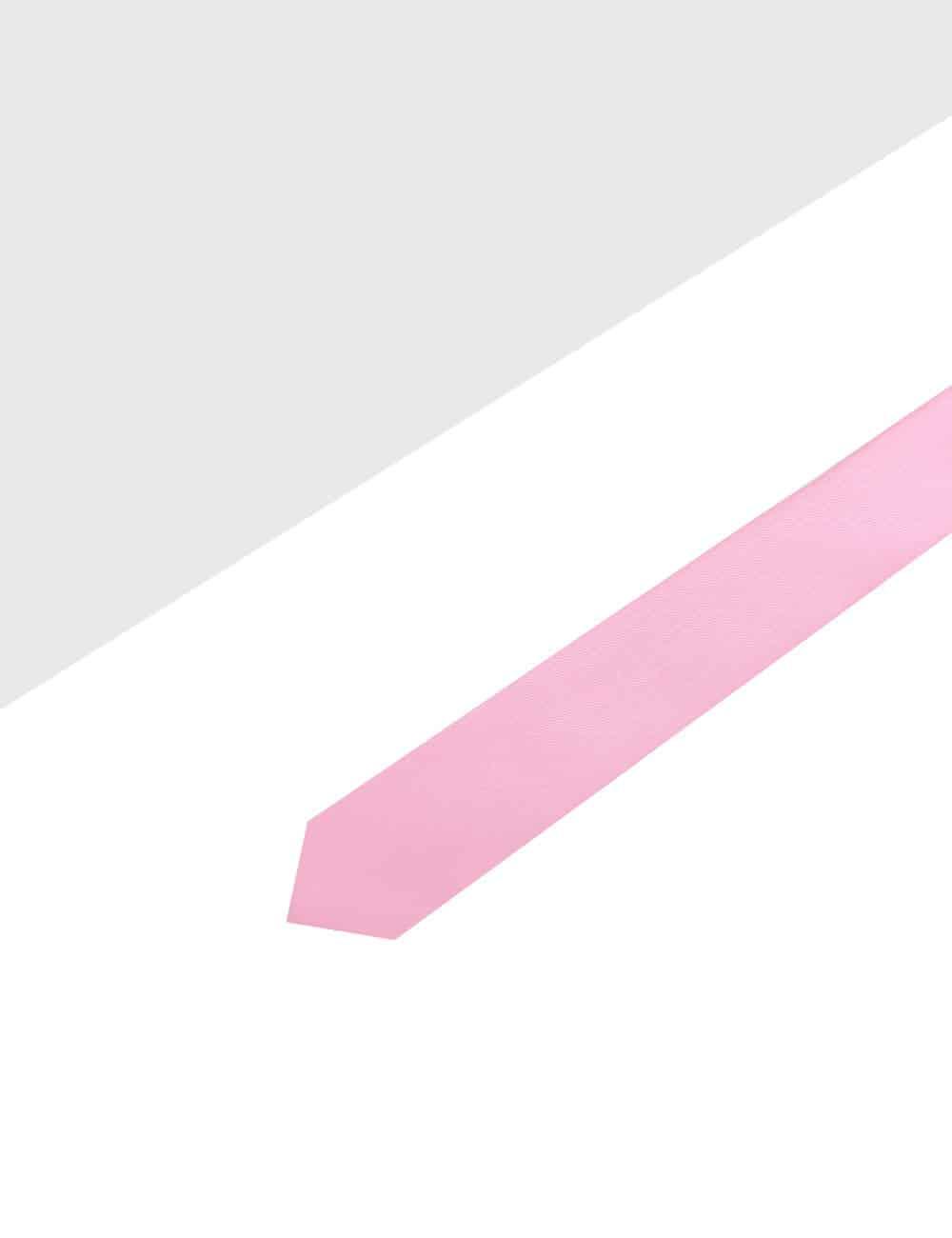 Solid Pink Woven Necktie NT1.13