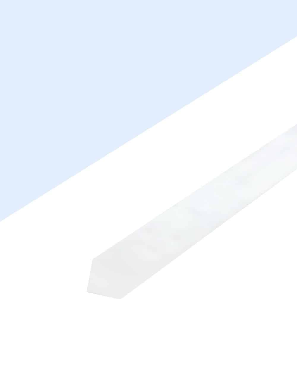 Solid White Woven Necktie NT1.4