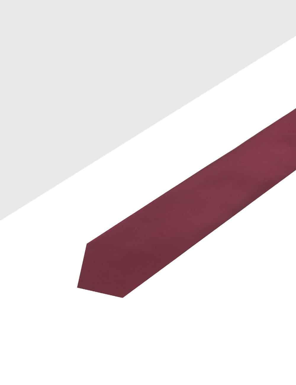 Solid Dark Red Spill Resist Woven Necktie NT11.13